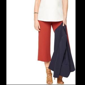 A Pea in the Pod Crepe Culotte Maternity Pants Red